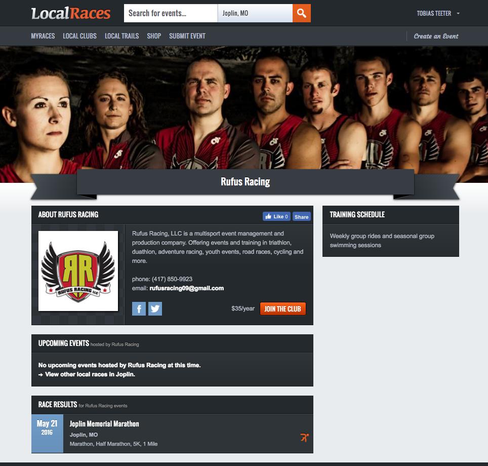 Club Webpage